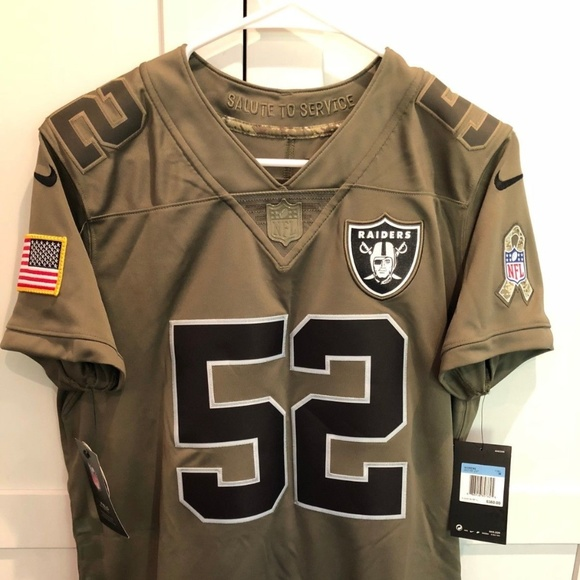 online retailer 670c5 c6f31 Nike NFL Oakland Raiders Salute to Service Jersey NWT